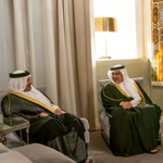 HRH the Crown Prince receives the President of the National Audit Office