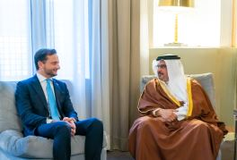HRH the Crown Prince receives the Ambassador of the Italian Republic