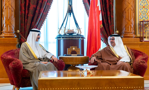 HRH the Crown Prince receives the newly appointed Kuwaiti Ambassador to Bahrain