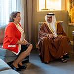 HRH the Crown Prince receives the Ambassador of the Arab Republic of Egypt