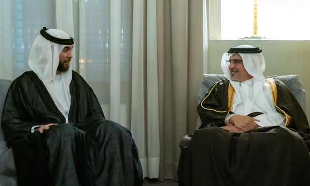 HRH the Crown Prince's meets HRH Prince Hashim bin Al Hussein