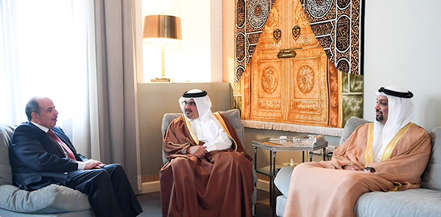 HRH CP meets with newly-appointed Jordanian Ambassador to Bahrain