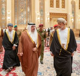 HRH the Crown Prince extends condolences to the Sultan of Oman